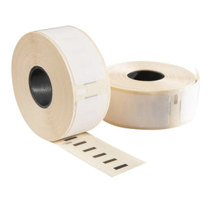 Dymo 99010 / S0722370 compatible labels, 89 mm x 28 mm, 130 etiketten per rol, wit, permanent
