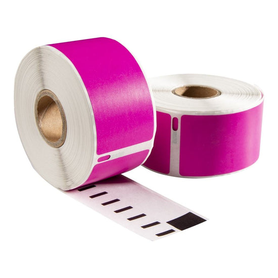Dymo 99010 roze compatible labels, 89 x 28 mm, 260 etiketten, permanent