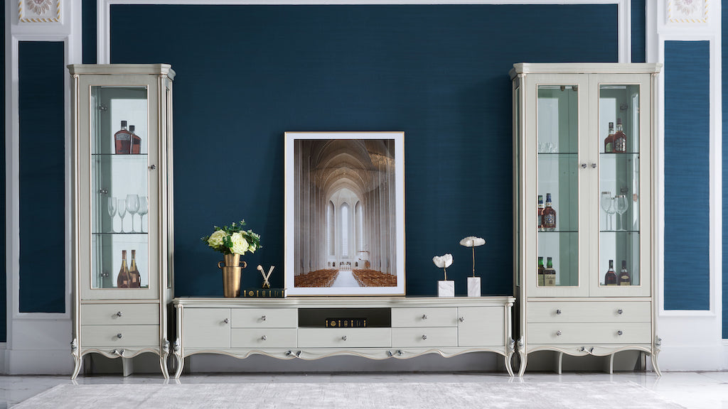 French Display Cabinets and TV Unit