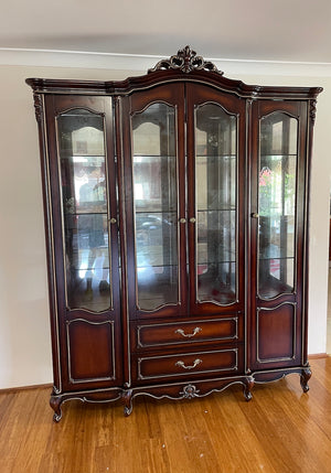 Marseille Four Door Display Cabinet