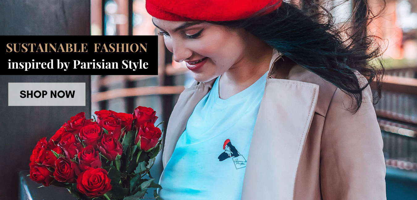 sustainable fashion inspired by Parisian Style, eco fashion, ethical fashion, paris style, organic clothing, parisienne style, tote bags, organic cotton tshirts, hoodies