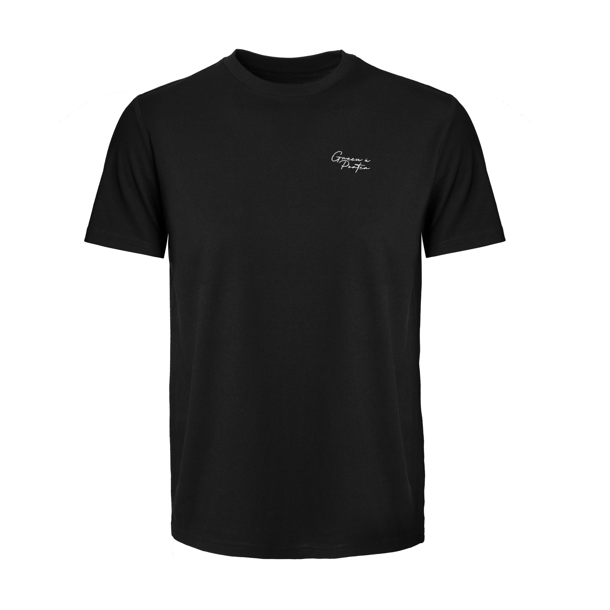 Sustainable Black Cotton T-Shirt - Cotton T-Shirts | GreenaPorter