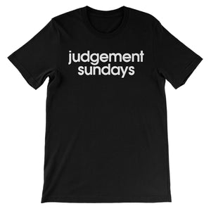 Judgement Sundays Unisex Short Sleeve T-Shirt