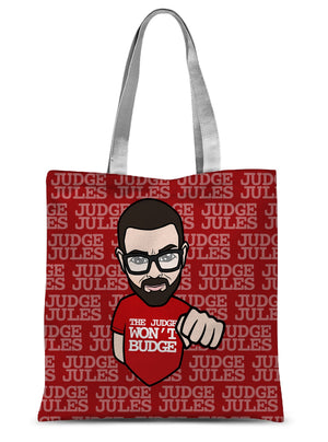 Cartoon Judge Sublimation Tote Bag