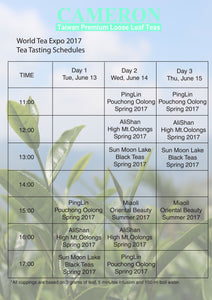 World Tea Expo 2017 - Tea Tasting Schedules