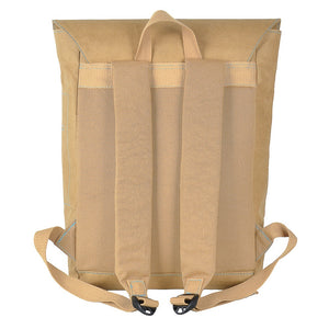 Brown Flip-Top paper leather DrawBag back.