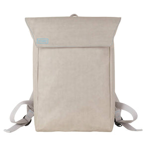 Grey Flip-Top paper leather DrawBag front.