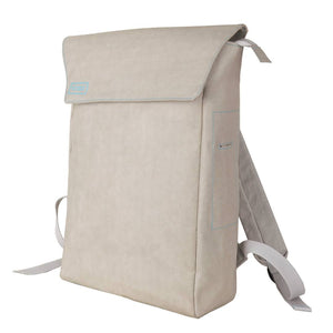 Grey Flip-Top paper leather DrawBag angle.