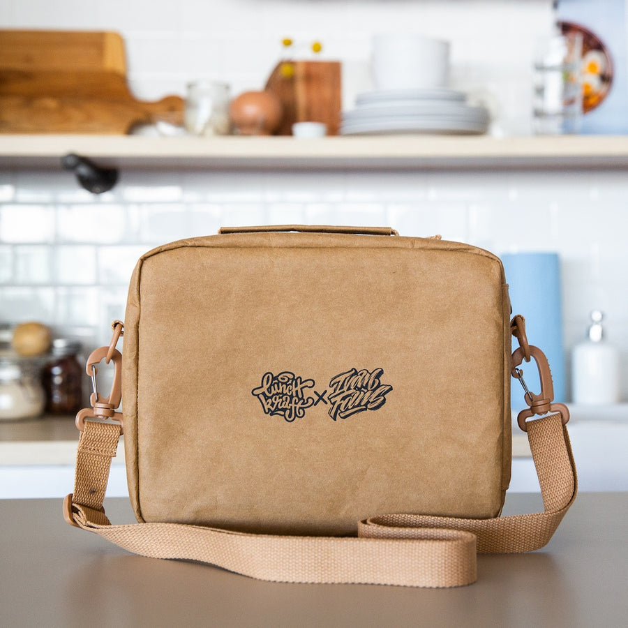 LunchKraft paper leather lunchbox back.