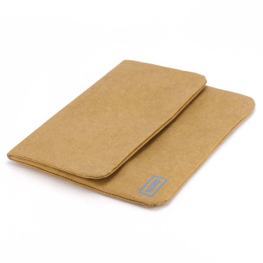 Paper leather DIY laptop tablet sleeve flat.