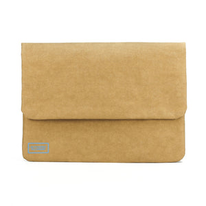 Paper leather DIY laptop tablet sleeve front.