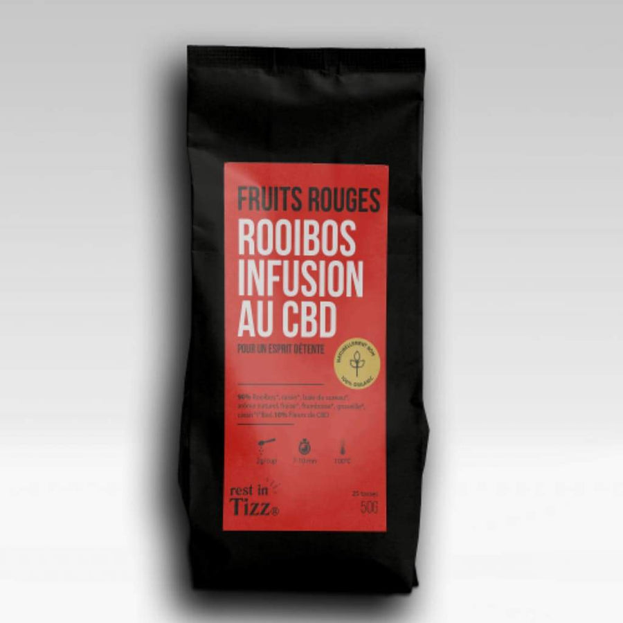 ROOIBOS INFUSION BIO AU CBD| FRUITS ROUGES - Le bar à liquide