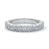 Alana Wedding ring oval diamonds scalloped 18ct white gold