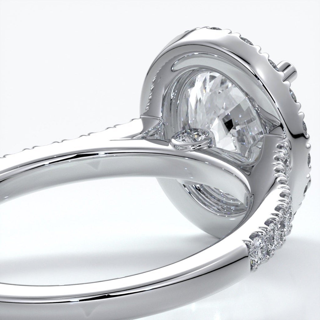 Blair Engagement Ring oval diamond band halo plat