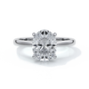 Catherine Engagement ring oval diamond 4 claw cathedral platinum