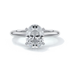 Cleo Engagement ring oval diamond 4 claw 18ct white gold