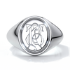 Dean Wedding rings crest ring monogram platinum
