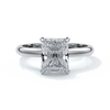 Edith Engagement ring radiant diamond 4 claw 18ct white gold