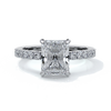 Florence Engagement Ring radiant diamond diamond band 18ct white gold