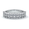 Gemma Wedding ring radiant diamonds scalloped band 18ct white gold