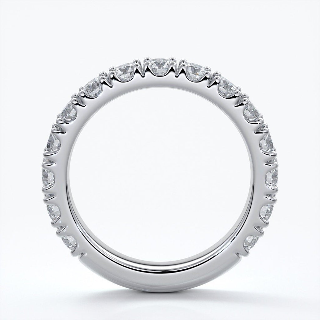 Harlow Wedding ring brilliant cut scalloped etenity 1.8mm 18ct white gold