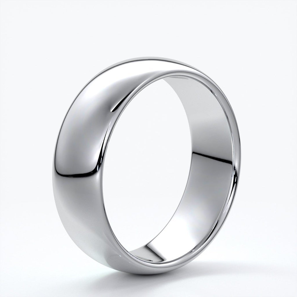 Harry Wedding ring 7mm comfort round mens band platinum