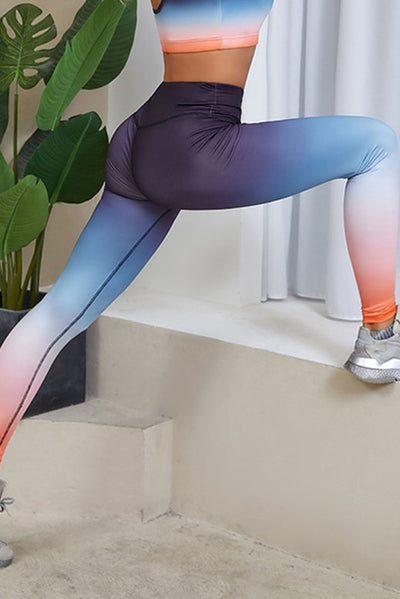 Tie Dye Gradient Activewear/Yoga Set