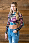 MULTI COLOR PRINT CROP TOP