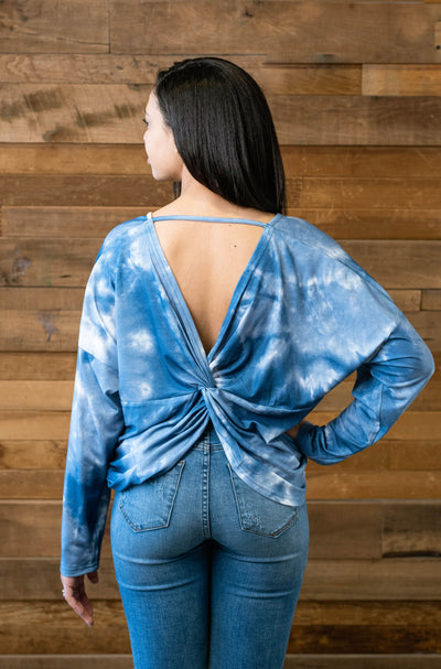 TIE DYE SCOOP BACK FASHION TOP