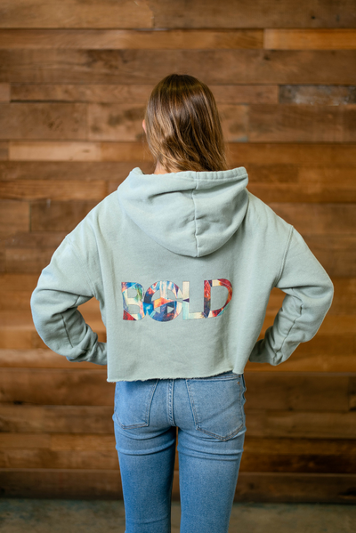 Mosaic BOLD Cropped Hoodie