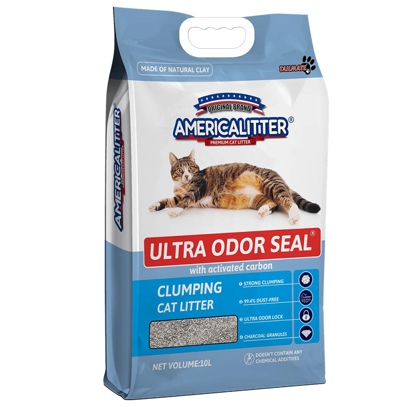 American Cat Litter Clay/Sand Ultra Odor Seal Unscented ( 10 Litres ) ODOR SEAL CLUMPING CAT LITTER