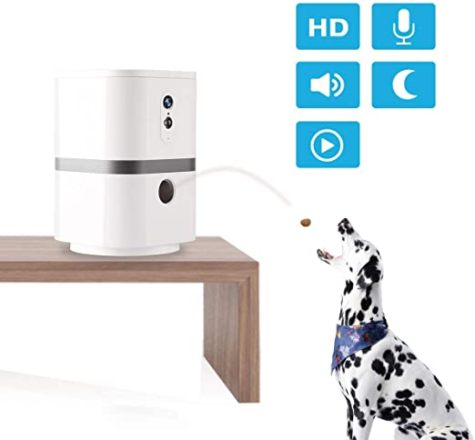 Skymee Petalk AI II Pet Camera Automatic Pet Treats Dispenser