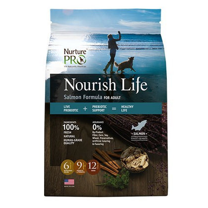 Nurture Pro Nourish Life Salmon Formula Adult Dry Dog Food Eagle Pro ( 3 Sizes )