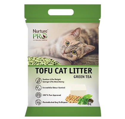 Nurture Pro Tofu Cat Litter ( Green Tea : 6L )