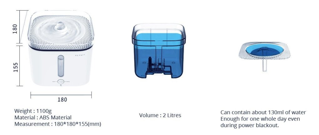 Petkit Water Drinking Fountain Specification