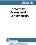 ASME CA-1-2014 Conformity Assessment Requirements