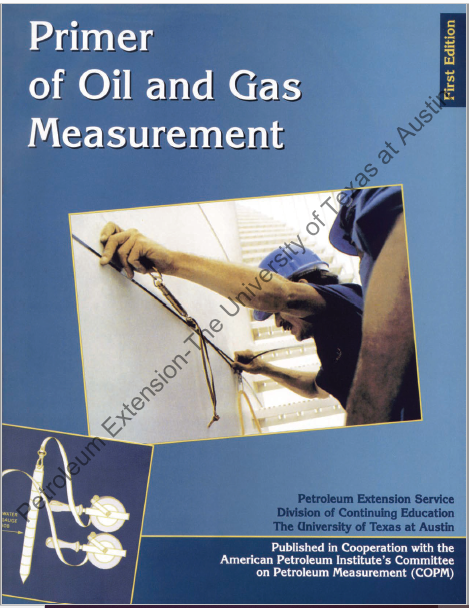 A Primer of Oil and Gas Measurement