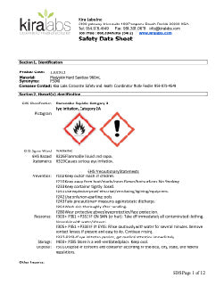 MSDS for Hand Sanitizer