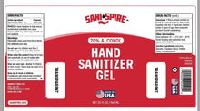 Load image into Gallery viewer, Sani-Spire Hand Sanitizer Gel, Red Label, 32 oz