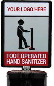 Hand Sanitizer Sign w/ Frame