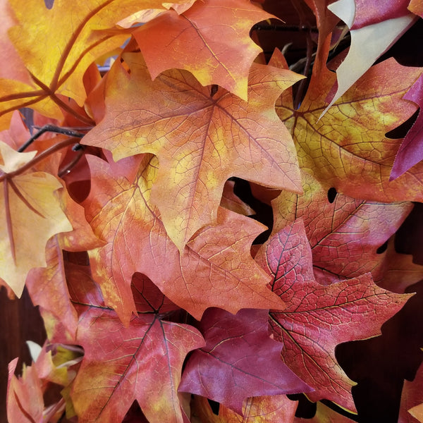 Wreath - Fall Canadian Maple Leaves
