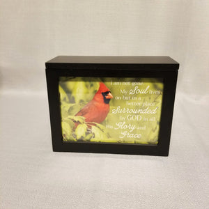 Illuminated Keepsake Cardinal Box Decor