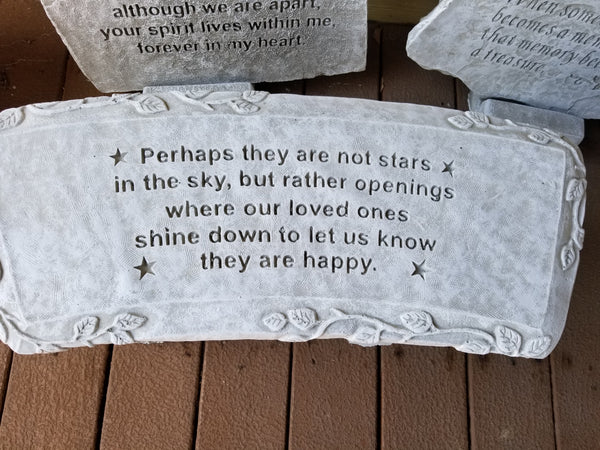 Memorial Garden Bench - Perhaps They Are Not Stars