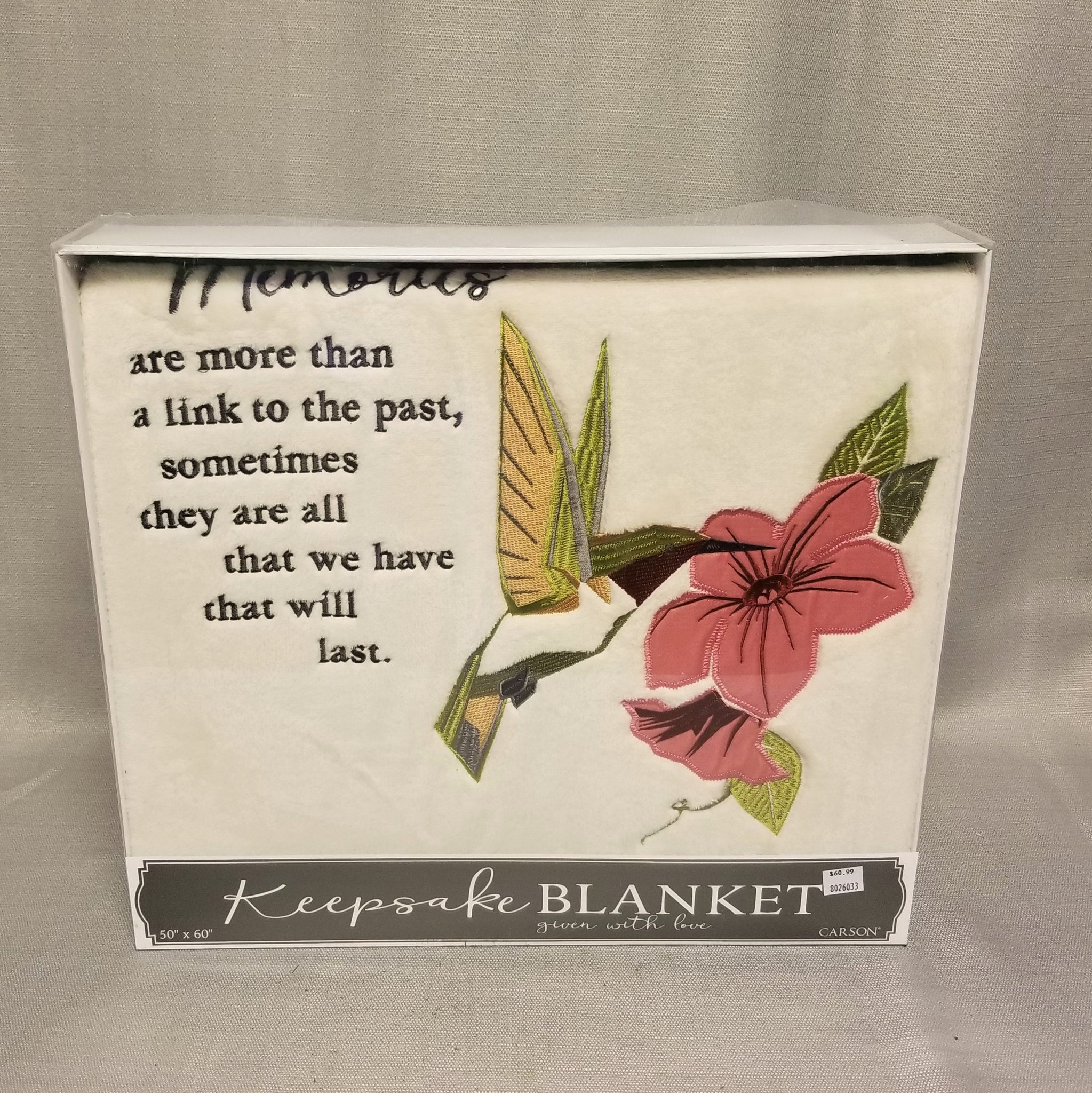 Keepsake Blanket - Memories