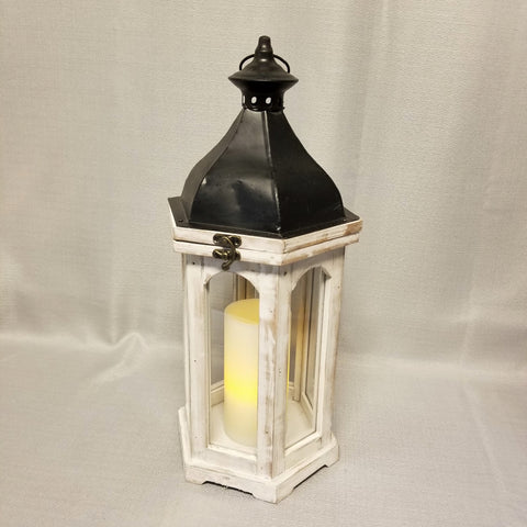 Hexagonal Lantern - white