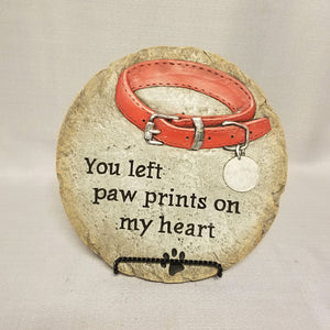 Pet Memorial Stepping Stone - Paw Prints on my Heart