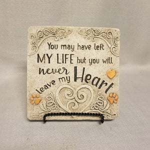 Pet Memorial Stepping Stone - Never Leave My Heart