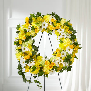 FTD Golden Remembrance Wreath