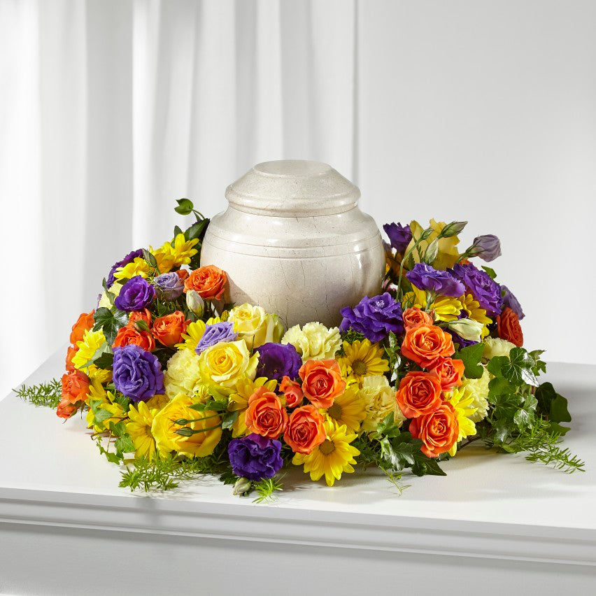 FTD Blossoms of Remembrance Cremation Wreath