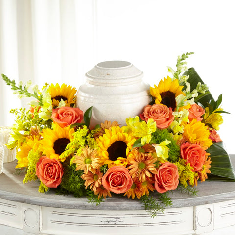 FTD Faithful Sunflower Cremation Wreath